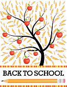 Back To School Tree With Pencils Flyer