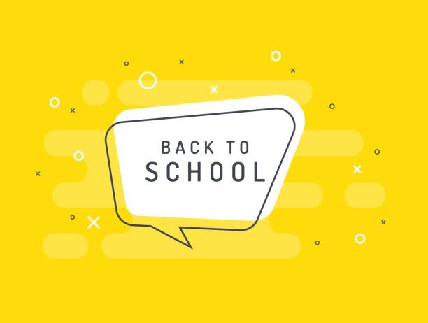back to school. trendy flat vector bubble. - language class stock illustrations, clip art, cartoons, & icons