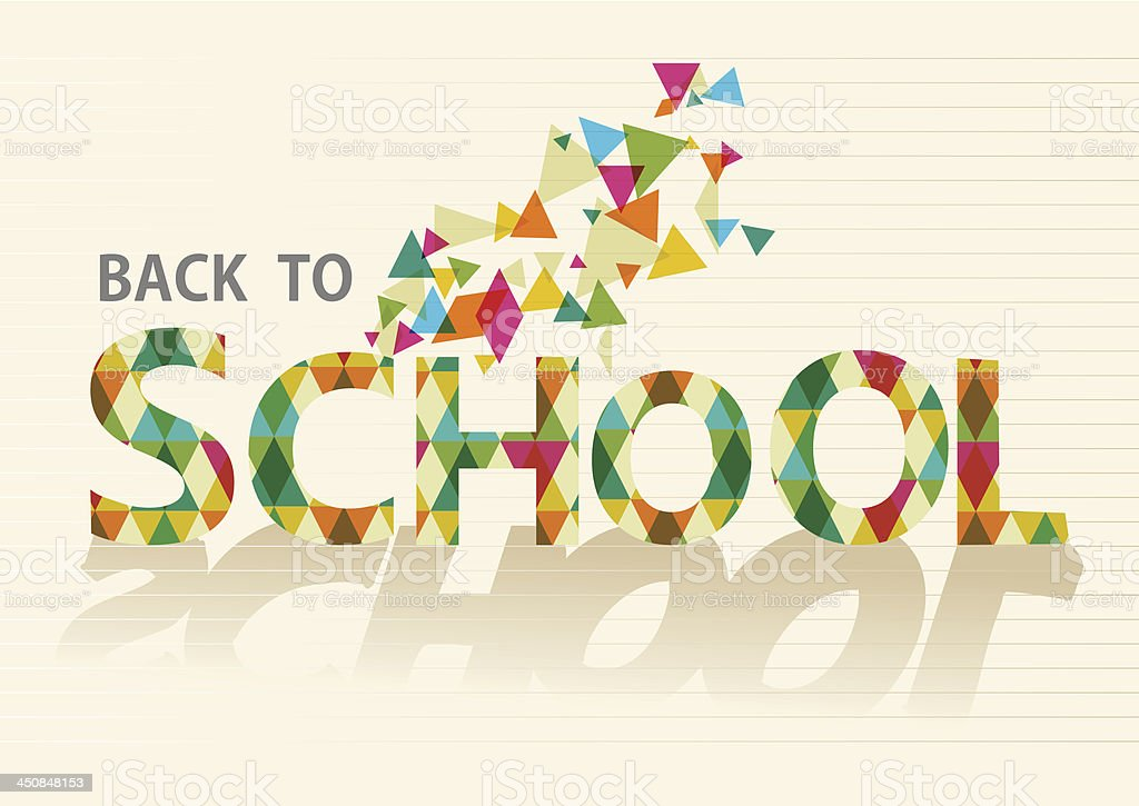 Back to school triangle sign isolated royalty-free back to school triangle sign isolated stock vector art & more images of abstract