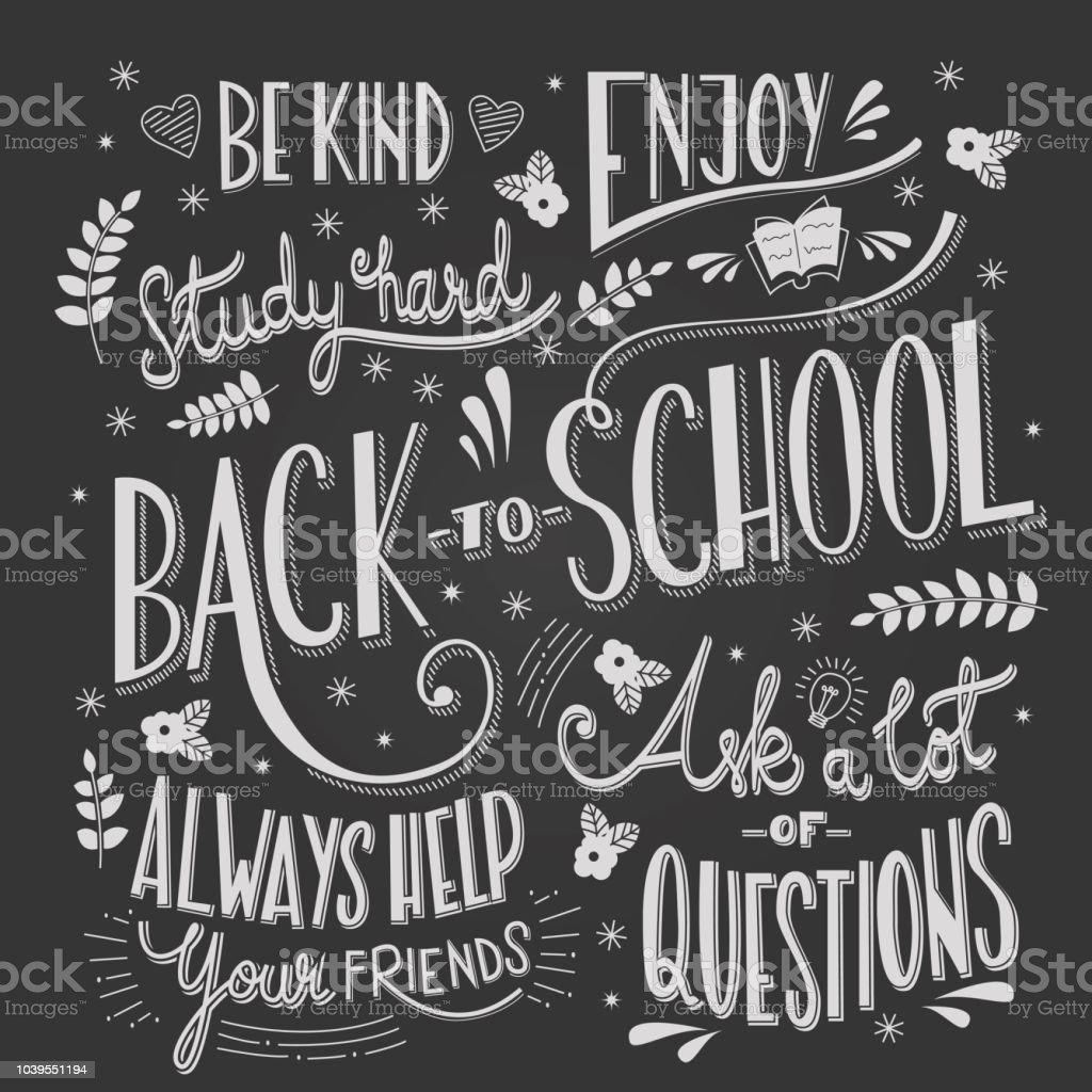 Ilustración De Volver A La Tipografía De La Escuela De