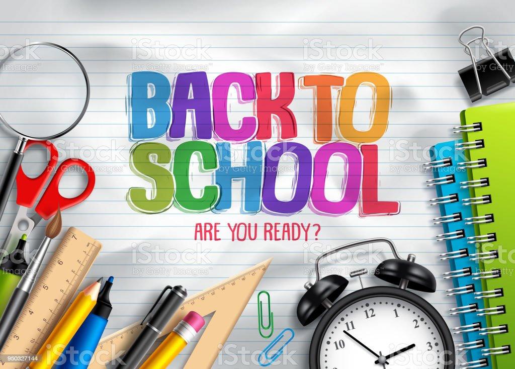 Back To School Vector Background Design With School ...