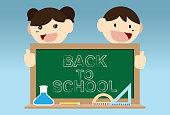 School Building, Blackboard, Smiling, Child, Education