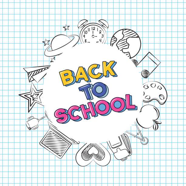 ilustraciones, imágenes clip art, dibujos animados e iconos de stock de volver a la escuela - regreso a clases