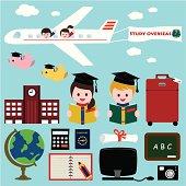children study overseas or summer school.