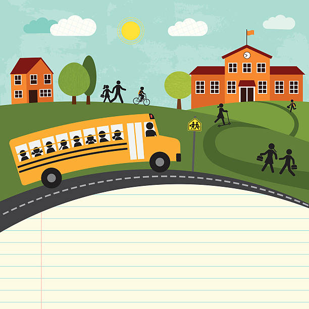 back to school (series) - school stock illustrations