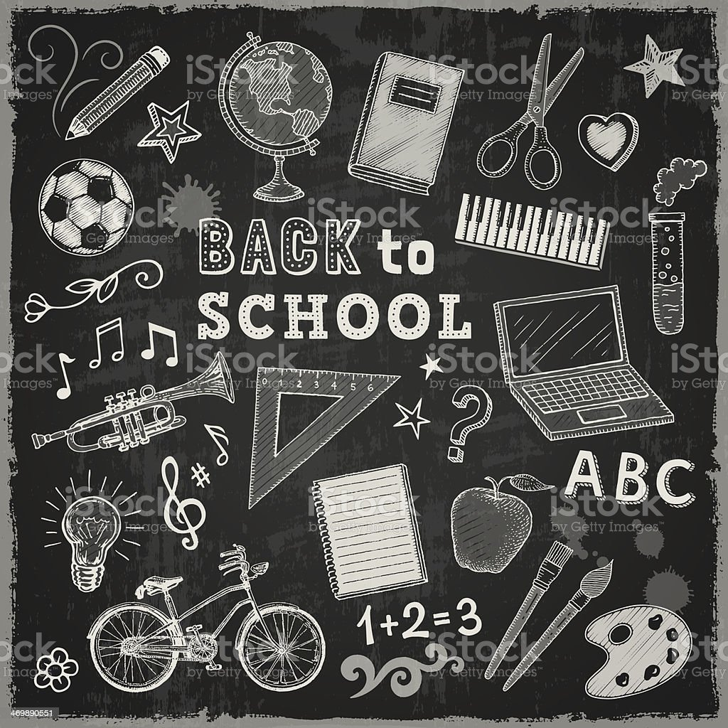 Back to School royalty-free back to school stock vector art & more images of apple - fruit
