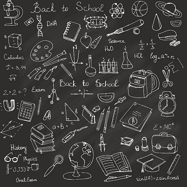 zurück to school - grundschule stock-grafiken, -clipart, -cartoons und -symbole