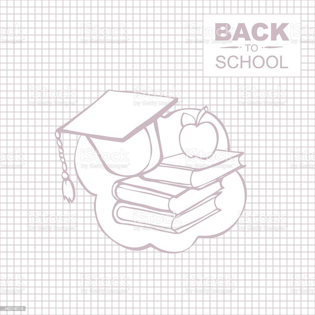 Vuelta a la escuela - ilustración de arte vectorial