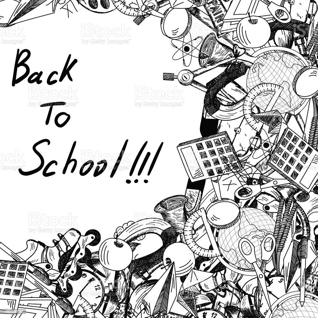 Retour à l'école - Illustration vectorielle