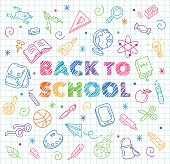 Back to School Doodle illustration.