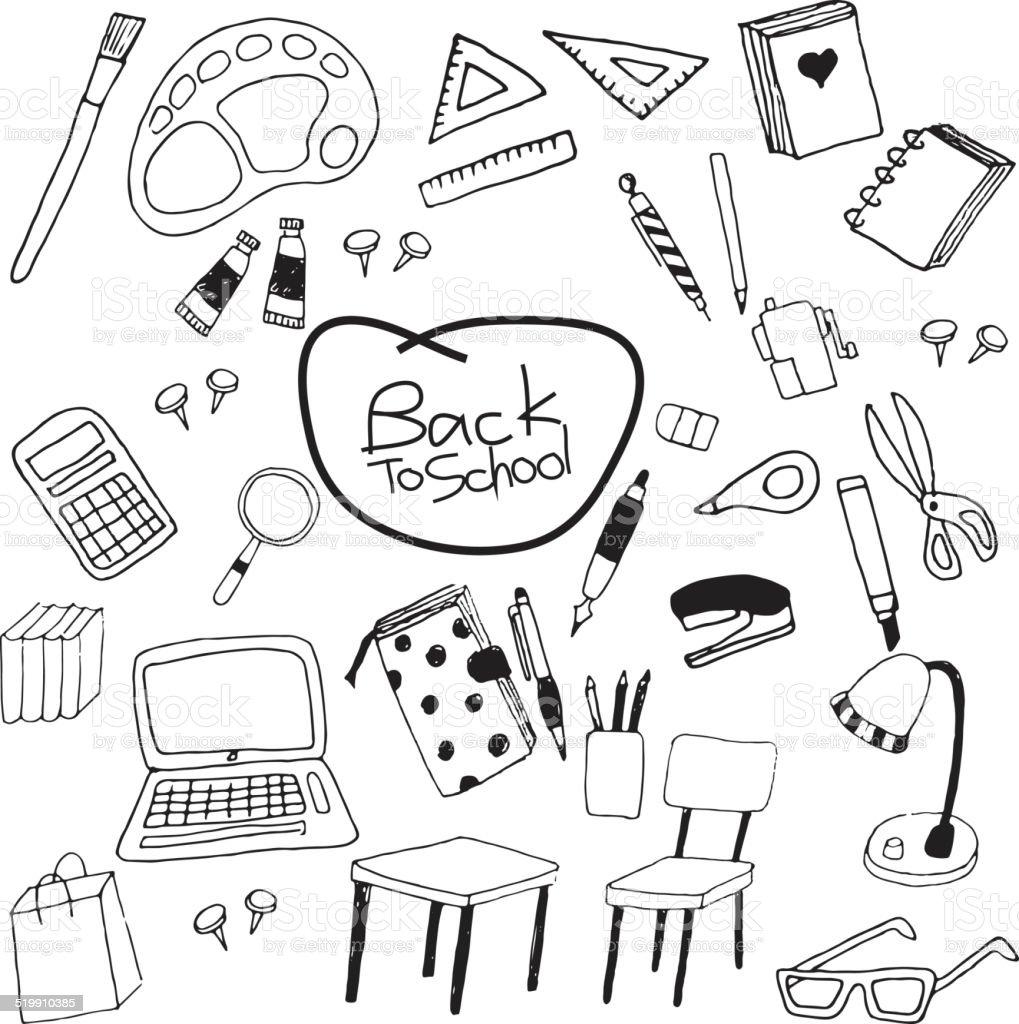 Zurück to school – Vektorgrafik