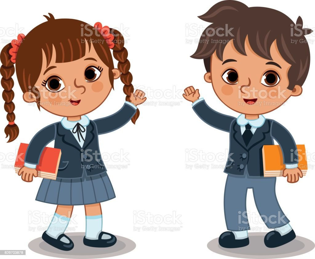 royalty free prep school uniform clip art vector images rh istockphoto com school uniform clipart image school uniform uk clipart
