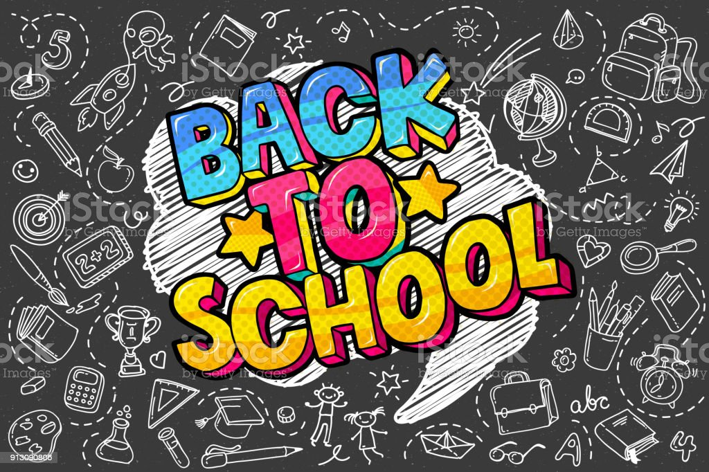 Back to school. royalty-free back to school stock illustration - download image now