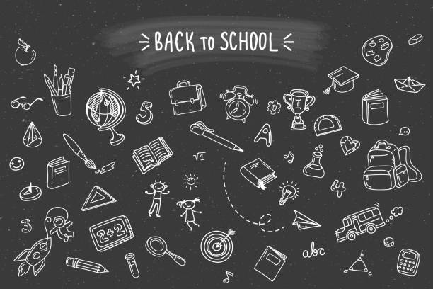 back to school. - primary school stock illustrations, clip art, cartoons, & icons