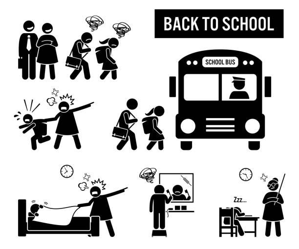 Back to school. vector art illustration