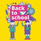 Back to school vector illustration template design.
