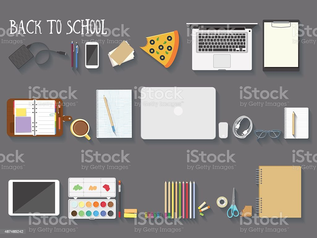 Back to school vector illustration vector art illustration
