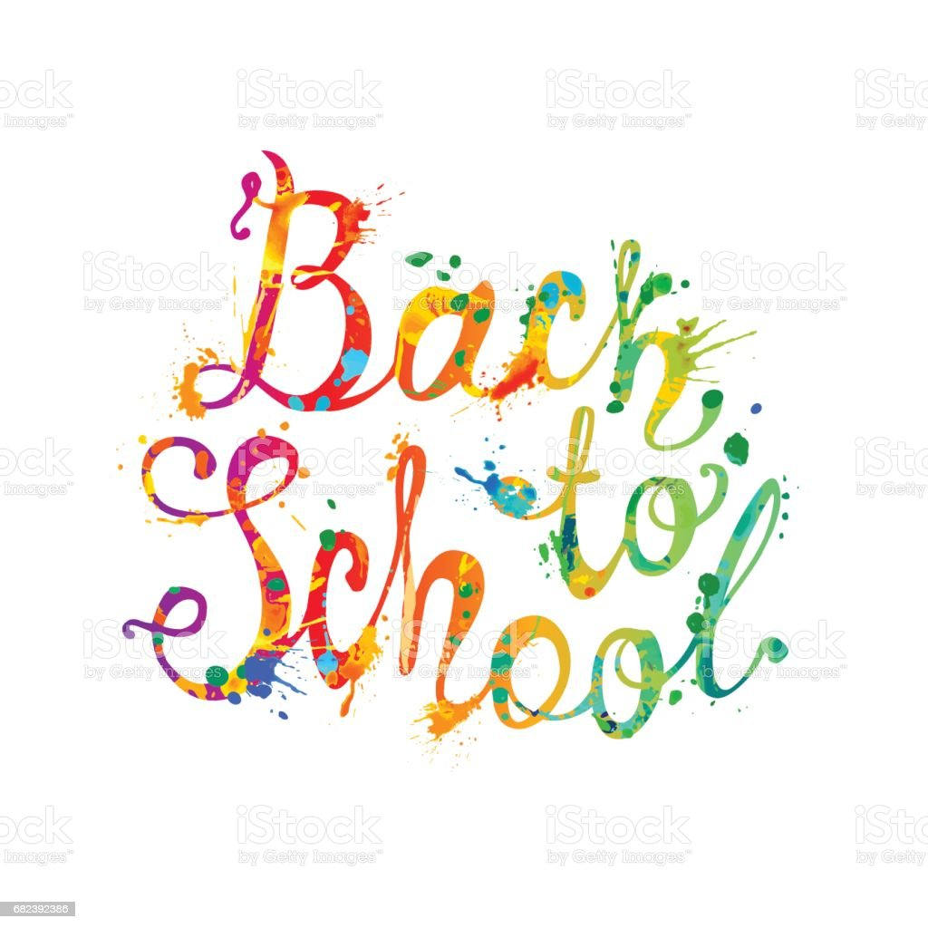 Back to school. Vector splash paint royalty-free back to school vector splash paint stock vector art & more images of back