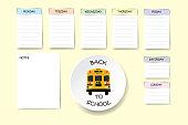 Back to school weekly planner vector