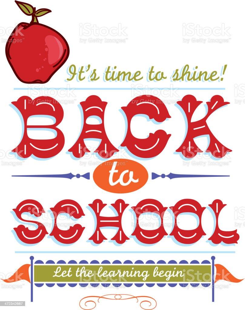 Back to school wordmark design template royalty-free back to school wordmark design template stock vector art & more images of apple - fruit