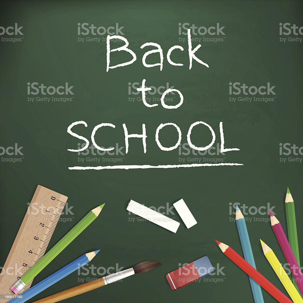 Back to school written with chalk on blackboard royalty-free back to school written with chalk on blackboard stock vector art & more images of algebra