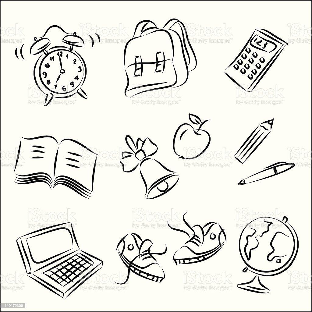 Back to School-1 vector art illustration