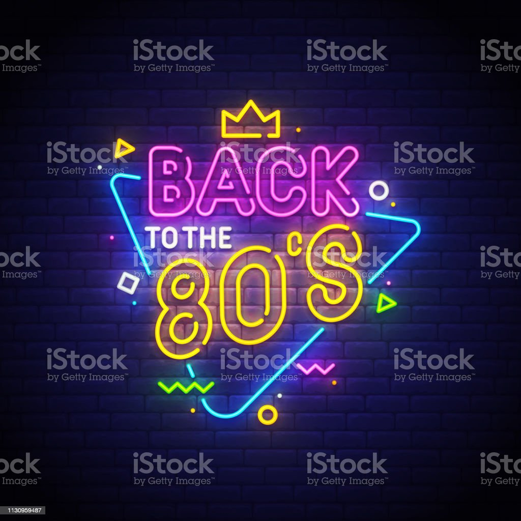 Back To The 80s Neon Sign Bright Signboard Light Banner