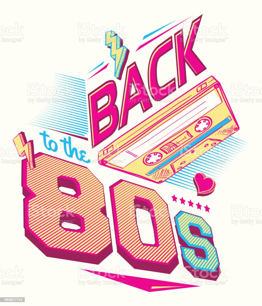 Download Back To The 80s Retro Party Poster Design Stock ...