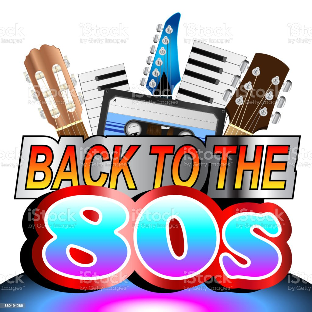 Back To The Eighties Background vector art illustration