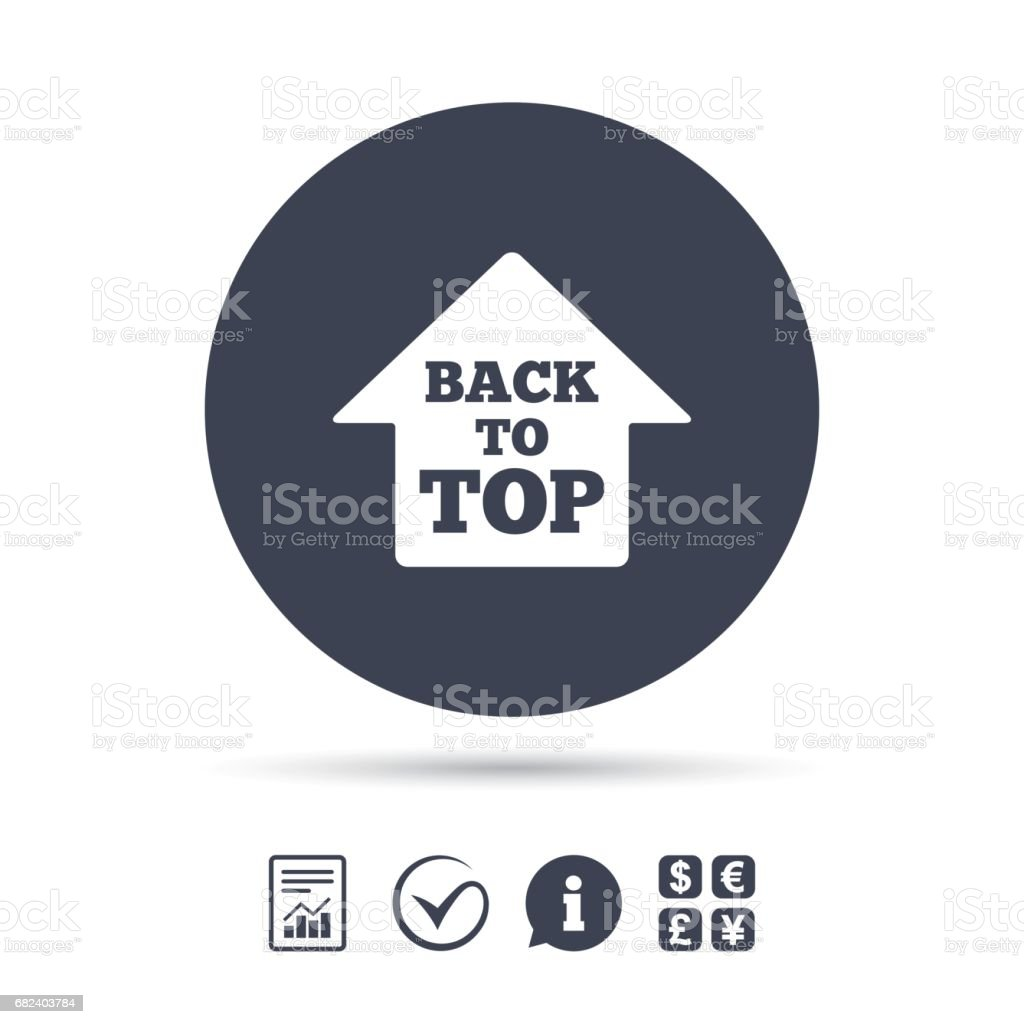 Back to top arrow sign icon. Scroll up symbol. royalty-free back to top arrow sign icon scroll up symbol stock vector art & more images of above