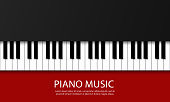 Backdrop with piano. Realistic piano keys. Design illustration vector.