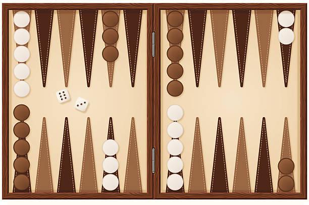 Backgammon board illustration with dice detailed backgammon board illustration backgammon stock illustrations