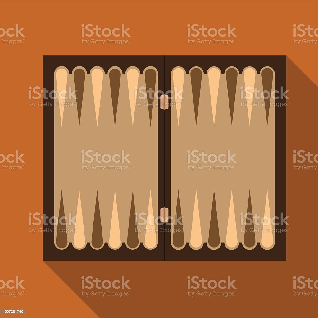 Backgammon flat icon illustration vektör sanat illüstrasyonu