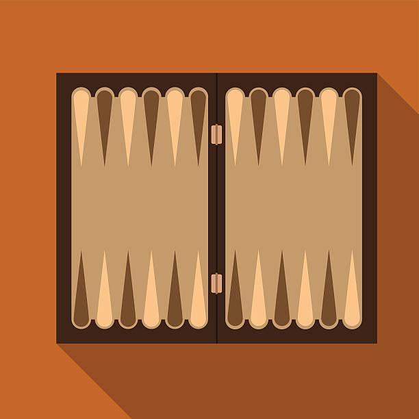 Backgammon flat icon illustration Backgammon flat icon illustration isolated vector sign symbol backgammon stock illustrations