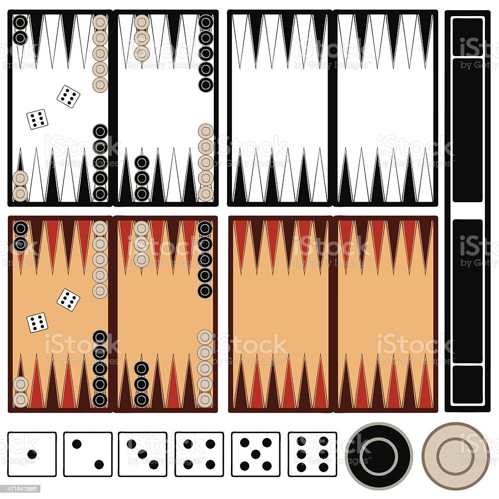 Backgammon game vektör sanat illüstrasyonu