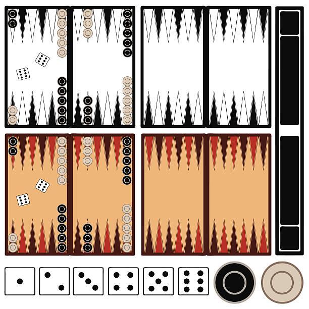 Backgammon game Backgammon game isolated backgammon stock illustrations