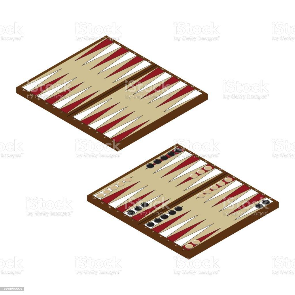 Vector juego de backgammon - ilustración de arte vectorial