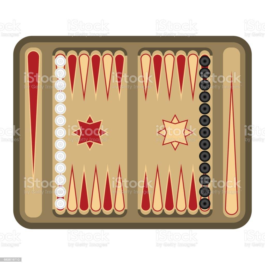 Icono de backgammon en estilo de dibujos animados aislado sobre fondo blanco. Juegos de mesa símbolo ilustración vectorial de stock. - ilustración de arte vectorial