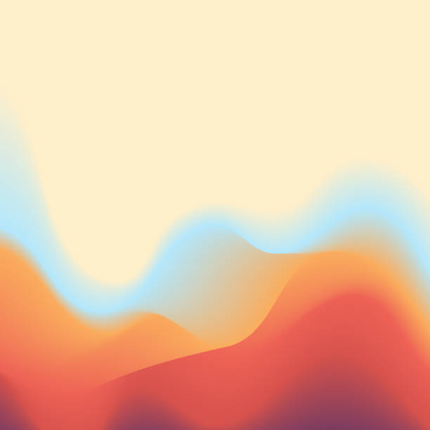 Background abstract color gradients Vector illustration of an abstract background with a surreal and fluid design. Ideal for design projects, web pages and technology and business backgrounds. heat temperature stock illustrations