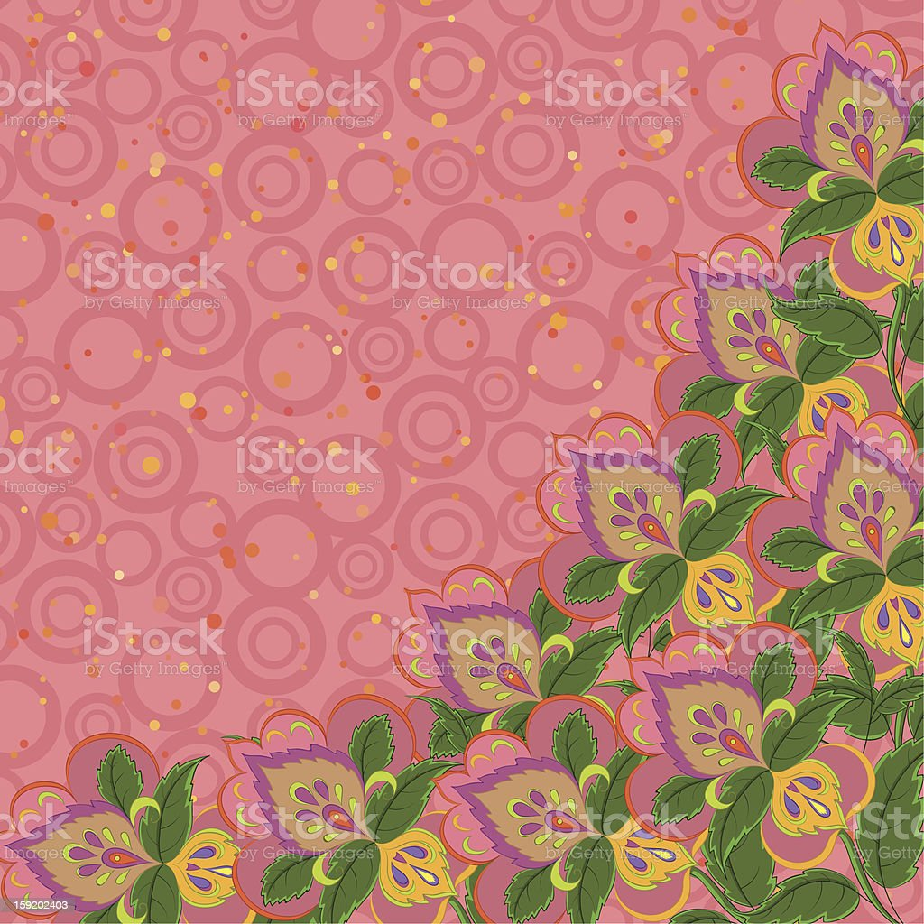 Background, abstract flowers royalty-free stock vector art