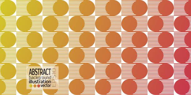 背景抽象圓和線向量的幾何紅黃色向量藝術插圖