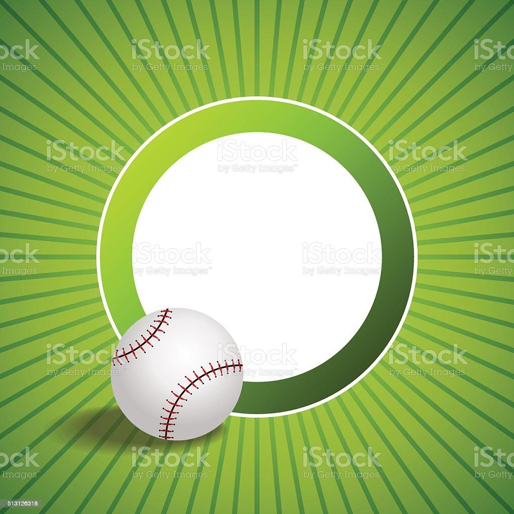Hintergrund Abstrakt Grün Baseballball Kreis Framevektorillustration ...