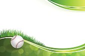 Background abstract green baseball ball illustration vector