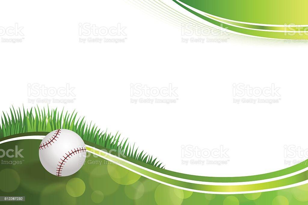 Background abstract green baseball ball illustration vector vector art illustration