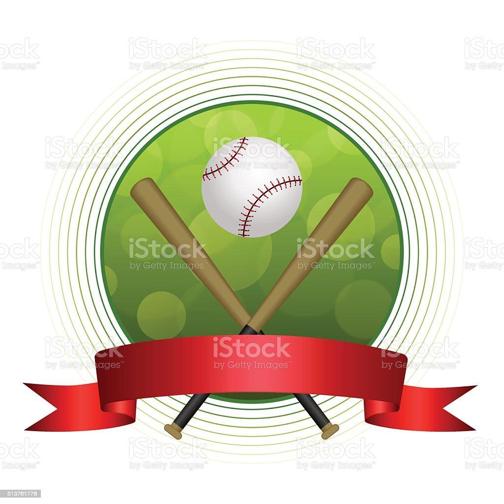 Hintergrund Abstrakt Grün Baseballsport Kugel Kreis Frame Vektorrot ...