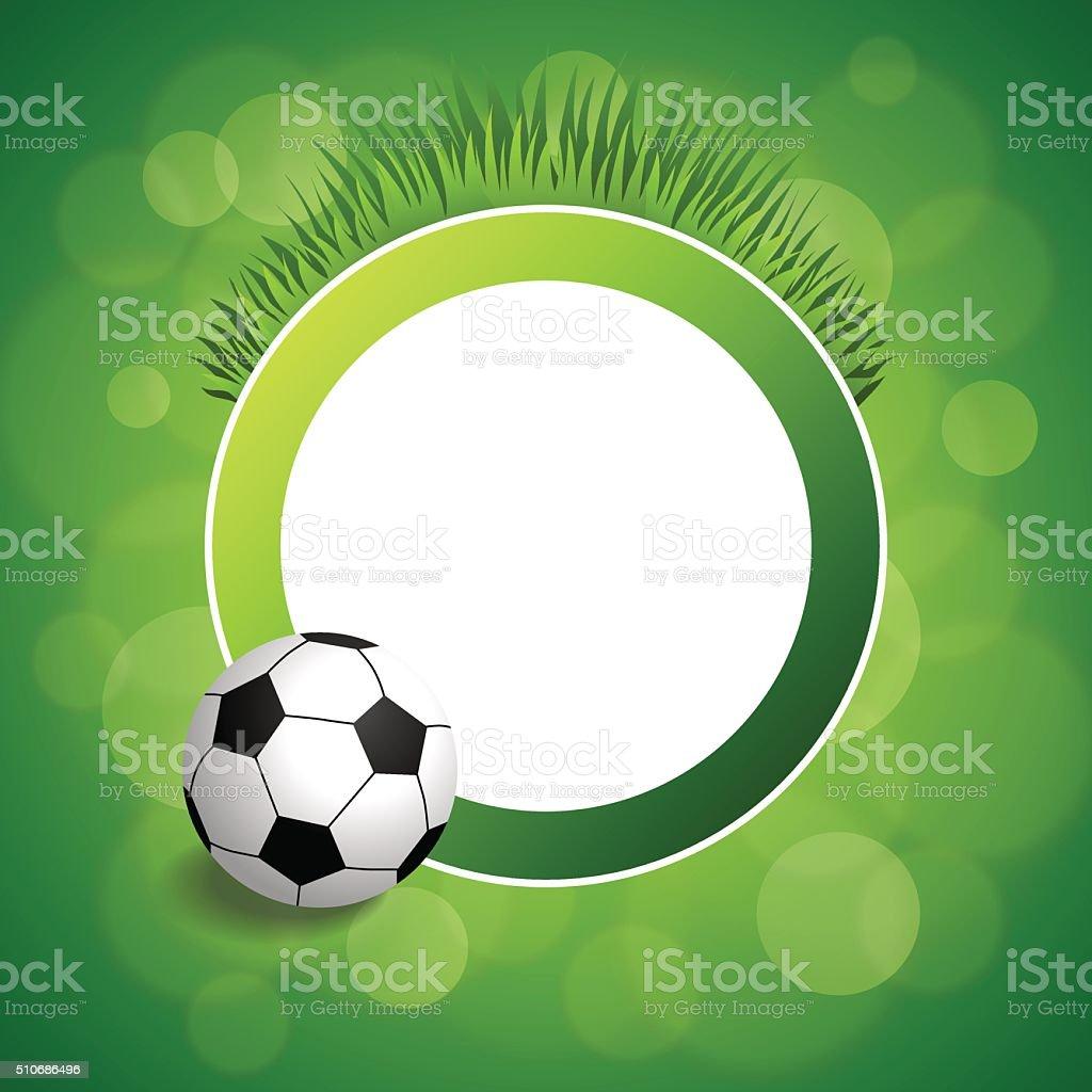 Background abstract green football soccer ball circle frame illustration vector vector art illustration