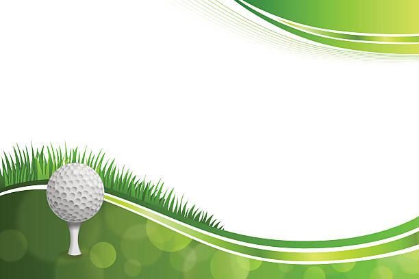 ilustrações, clipart, desenhos animados e ícones de fundo abstrato verde golfe esporte branco, ilustração em vetor de bola - golfe