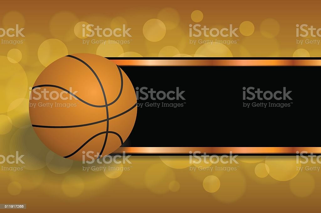Background abstract orange sport black basketball ball strips frame...