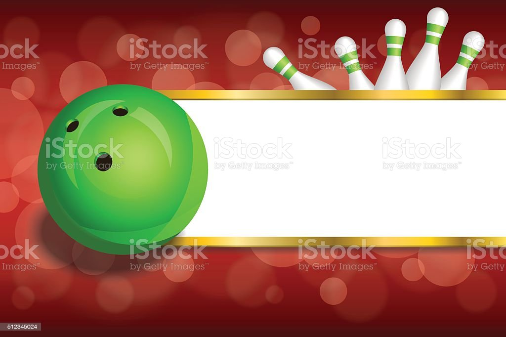 Background Abstract Red Gold Stripes Bowling Green Ball Frame Vector ...