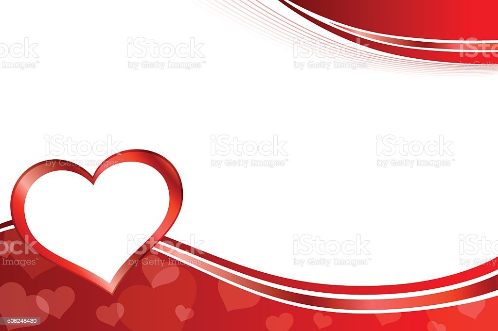 Background abstract red heart frame illustration vector vector art illustration